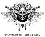 vector illustration helmet with ... | Shutterstock .eps vector #185014382
