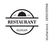 restaurant vector   food logo...   Shutterstock .eps vector #1850150968