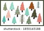 christmas cute cartoon elements ...   Shutterstock .eps vector #1850165188