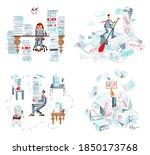 office bureaucracy and... | Shutterstock .eps vector #1850173768