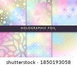 holographic foil patterns.... | Shutterstock .eps vector #1850193058