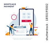 mortgage payment online concept.... | Shutterstock .eps vector #1850195002