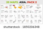 asia vector map infographic... | Shutterstock .eps vector #1850206348
