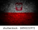 flag of poland painted on a... | Shutterstock . vector #1850221972