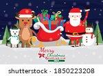 merry christmas vector... | Shutterstock .eps vector #1850223208
