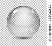 Transparent  Glass Sphere With...