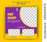 set of editable square banner... | Shutterstock .eps vector #1850244475