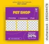 set of editable square banner... | Shutterstock .eps vector #1850244478