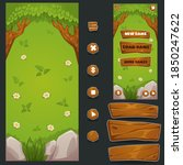 cartoon forest  mobile game...