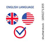english and us language. icon... | Shutterstock .eps vector #1850271355