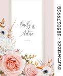 stylish vector wedding invite ... | Shutterstock .eps vector #1850279938