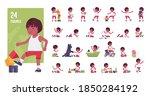 toddler child  little black boy ... | Shutterstock .eps vector #1850284192