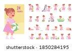 toddler child  little girl...   Shutterstock .eps vector #1850284195