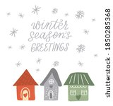 Winter Cozy Homes. City...