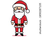 santa claus vector image with...   Shutterstock .eps vector #1850287135