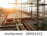 roof structure construct ion | Shutterstock . vector #185031212