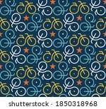 flat design bicycle colorful... | Shutterstock .eps vector #1850318968