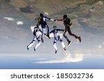 sports parachutist build a... | Shutterstock . vector #185032736