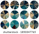 round metallic gradient web...