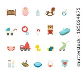 baby icons set | Shutterstock .eps vector #185034875