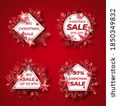 christmas sale badges with... | Shutterstock .eps vector #1850349832