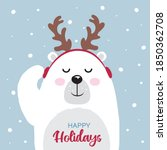 christmas greeting card with...   Shutterstock .eps vector #1850362708