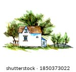 Country House Hand Drawn...