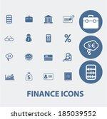finance icons | Shutterstock .eps vector #185039552