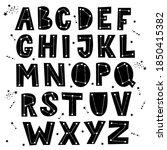 celestial themed alphabet.... | Shutterstock .eps vector #1850415382