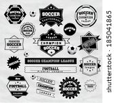 soccer football typography... | Shutterstock .eps vector #185041865