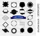 modern vintage labels  stamp... | Shutterstock .eps vector #185041892