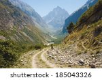 Pathway And Winding River In...