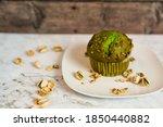 Single Pistachio Muffin On...
