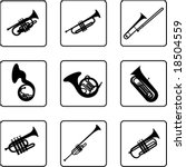 musical instruments black and... | Shutterstock .eps vector #18504559