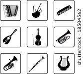 musical instruments black and... | Shutterstock .eps vector #18504562