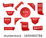price tag  corner  scroll ... | Shutterstock .eps vector #1850483788