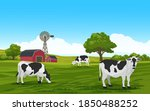 countryside landscape with... | Shutterstock .eps vector #1850488252