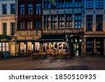 Old Cozy Narrow Street With...