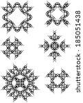 tribal tattoo set | Shutterstock . vector #185051438