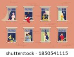 neighbors in window.... | Shutterstock .eps vector #1850541115