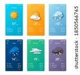 weather forecast app widget set.... | Shutterstock .eps vector #1850566765