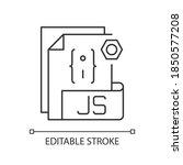 js file pixel perfect linear...   Shutterstock .eps vector #1850577208