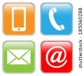 contact buttons set   email ...   Shutterstock .eps vector #185060288