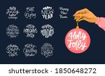 merry christmas and happy new...   Shutterstock .eps vector #1850648272