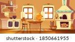 old rural russian kitchen oven  ... | Shutterstock .eps vector #1850661955