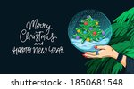 merry christmas and happy new...   Shutterstock .eps vector #1850681548
