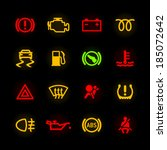 car dashboard icons. vector. | Shutterstock .eps vector #185072642