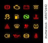 car dashboard icons. vector. | Shutterstock .eps vector #185072642