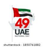 illustration banner 49 uae... | Shutterstock . vector #1850761882