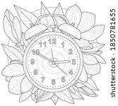 alarm clock.coloring book... | Shutterstock .eps vector #1850781655